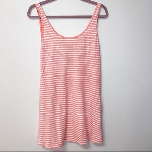 Forever 21 Pink Striped Scoop Back Dress
